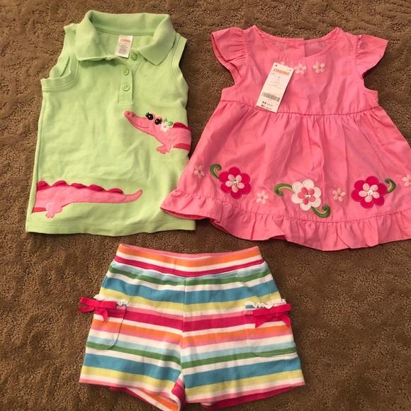 NWT Gymboree Butterfly Garden Blue OWL Dress 3T Toddler Girls
